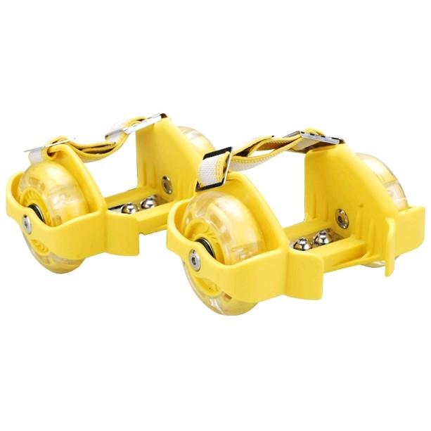 Ролики на пятку Flashing Roller 100 кг желтые - фото 1