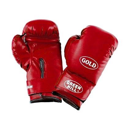 Перчатки боксерские Green Hill Gold красные - фото 1