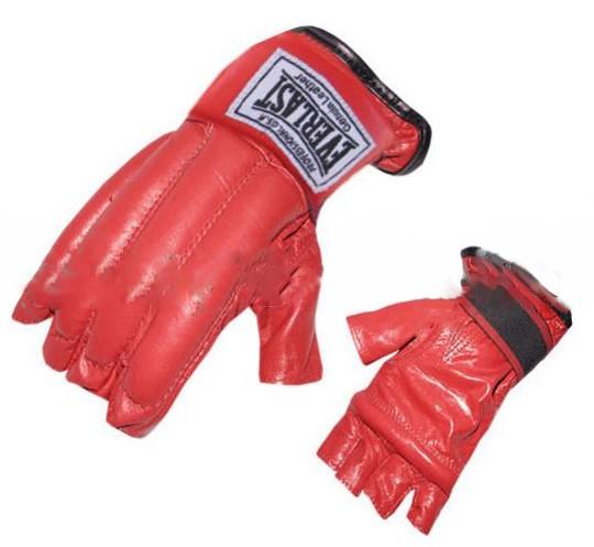 Шингарты (перчатки без пальцев) Everlast красные - фото 1