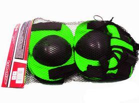 Защита для роликовых коньков и скейтборда MS 0032 зеленая - фото 1