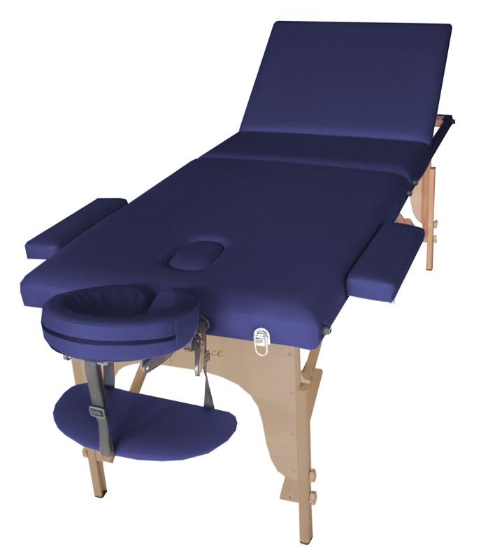 Фото 1 к товару Стол массажный SOL Art of Choice синий