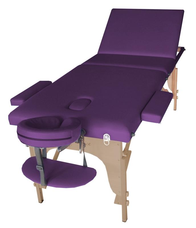 Стол массажный SOL Art of Choice фиолетовый