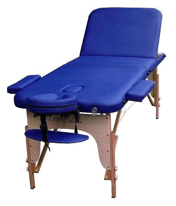 Стол массажный портативный DEN Comfort Art of Choice синий