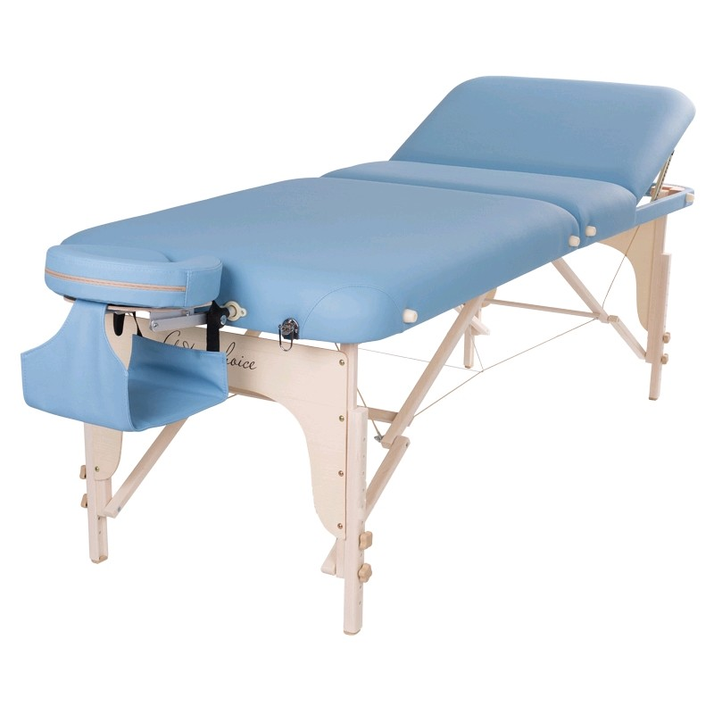 "Стол массажный класса ""люкс"" HAN Art of Choice голубой - фото 1"