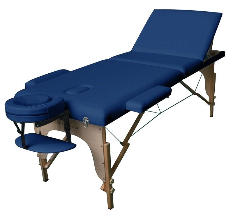 Стол массажный SOL Comfort Art of Choice синий