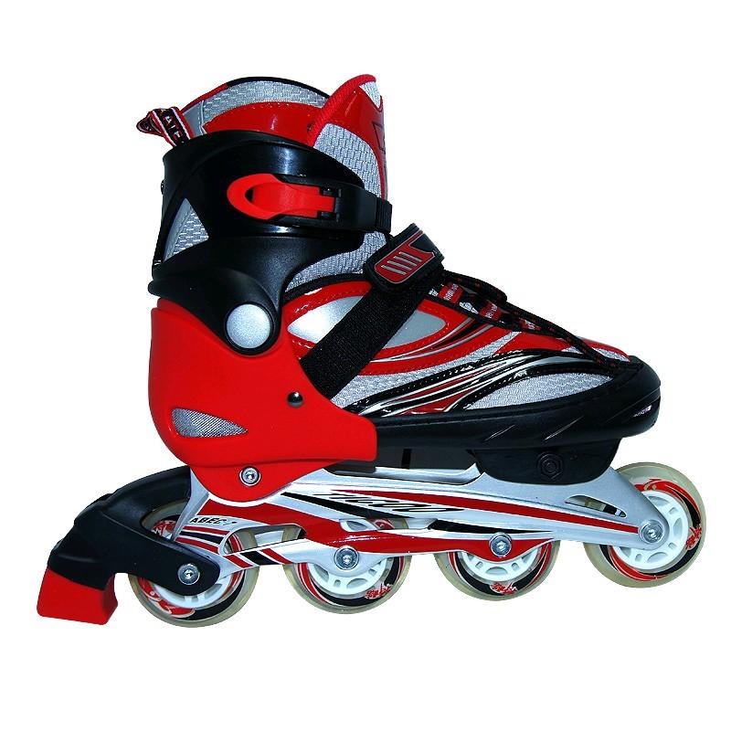 Коньки роликовые раздвижные Teku Skate TK-9337 красные - фото 1