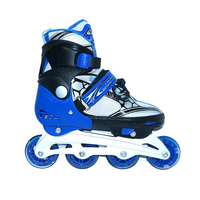 Коньки роликовые раздвижные Teku Skate TK-9337 синие - фото 1