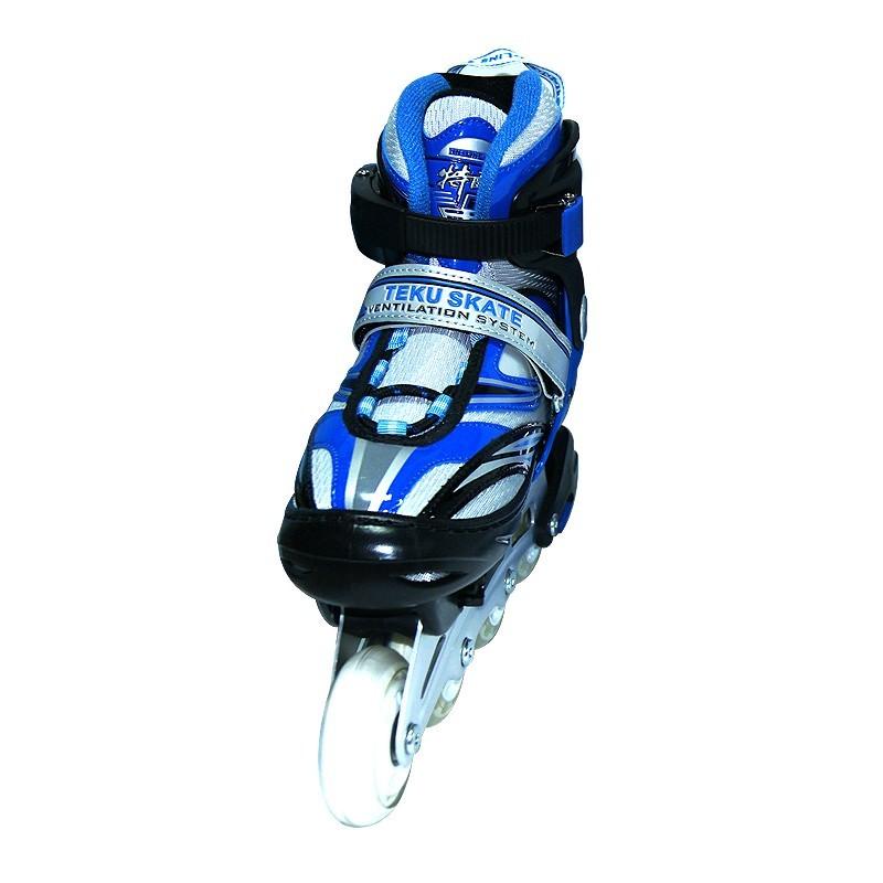 Коньки роликовые раздвижные Teku Skate TK-9337 синие - фото 2
