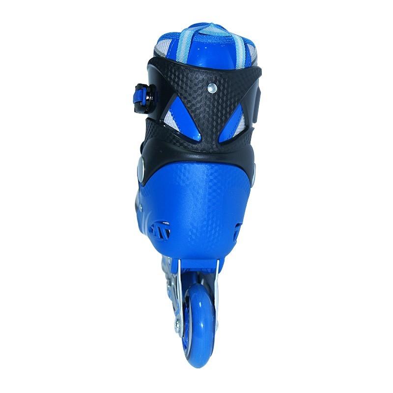 Коньки роликовые раздвижные Teku Skate TK-9337 синие - фото 3