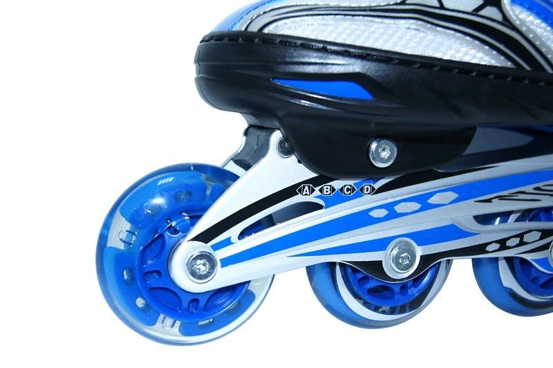 Коньки роликовые раздвижные Teku Skate TK-9337 синие - фото 4