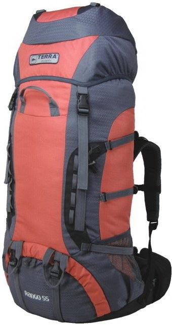 Фото 1 к товару Рюкзак треккинговый Terra Incognita Rango 55 оранжевый/серый