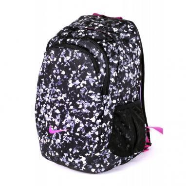 Рюкзак городской женский Nike Team Training Backpack For Her черный с узором