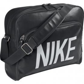 Сумка Nike Heritage Ad Track Bag черная с cерым