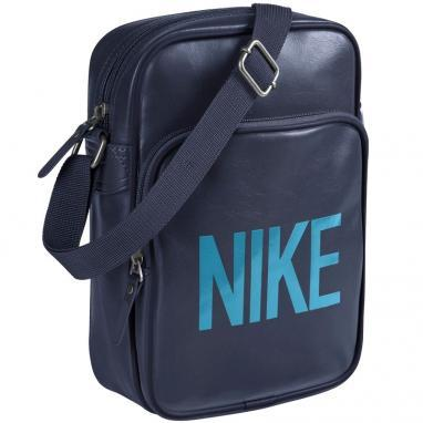 Сумка мужская Nike Heritage AD Small Items синяя с голубым