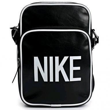 Сумка мужская Nike Heritage AD Small Items черная с белым