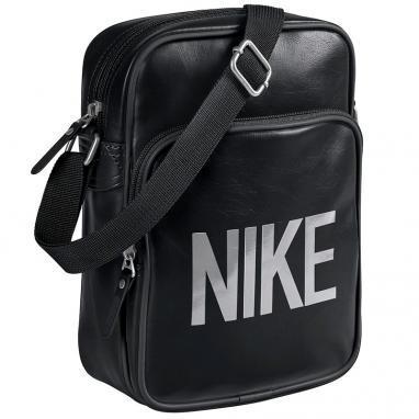 Сумка мужская Nike Heritage AD Small Items черный с серым