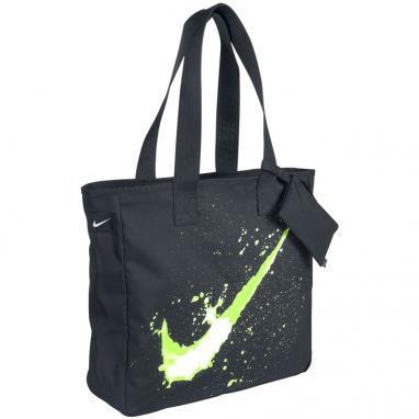 Сумка женская Nike Graphic Play Tote черная с зеленым