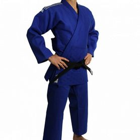 Кимоно для дзюдо Adidas Judo Uniform WH Champion Label синее - 195 см