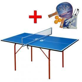Фото 1 к товару Стол теннисный детский Junior зеленый + подарок