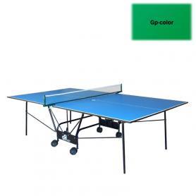 Фото 2 к товару Стол теннисный складной для помещений Gp-4 зеленый + подарок