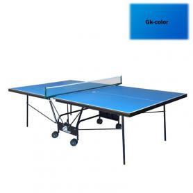 Фото 2 к товару Стол теннисный складной для помещений Gk-5 синий + подарок