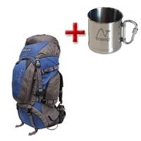 Рюкзак туристический Terra Incognita Discover 100 сине-серый + подарок