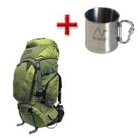 Рюкзак туристический Terra Incognita Discover 55 зеленый + подарок