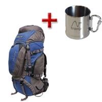 Рюкзак туристический Terra Incognita Discover 55 сине-серый + подарок
