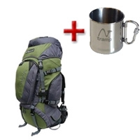 Рюкзак туристический Terra Incognita Discover 70 зелено-серый + подарок