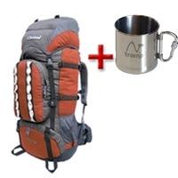 Рюкзак туристический Terra Incognita Mountain 50 оранжево-серый + подарок