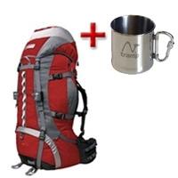 Фото 1 к товару Рюкзак туристический Terra Incognita Vertex Pro 80 красно-серый + подарок