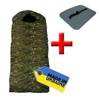 Фото 1 к товару Мешок спальный (спальник) Mountain Outdoor камуфляжный широкий + подарок