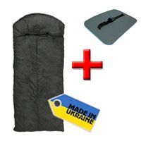 Мешок спальный (спальник) Mountain Outdoor черный + подарок