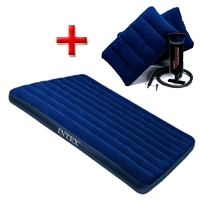 Матрас надувной Intex 68765 (203х152х22 см) + подарок