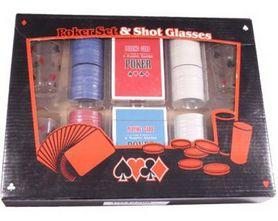 Набор для игры в пьяный покер Duke 200 фишек 4 рюмки