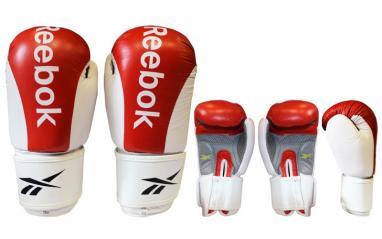 Перчатки боксерские кожаные Reebok красные