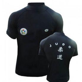 Футболка Green Hill Rash Guard Judo RGS-3558 короткий рукав черная