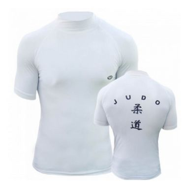 Футболка Green Hill Rash Guard Judo RGS-3558 короткий рукав белая