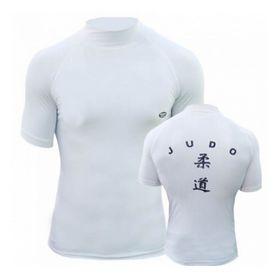 Футболка Green Hill Rash Guard Judo RGS-3558 короткий рукав белая - XXL