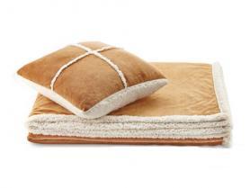 Набор одеяло + подушка Dormeo Теплые объятия бежевый