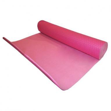 Йога-мат ТРЕ+TC 6 мм розовый