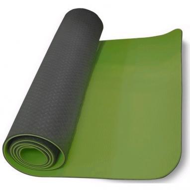 Йога-мат ТРЕ+TC 6 мм зеленый