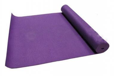 Коврик для йоги (йога-мат) 3 мм фиолетовый