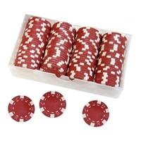 Фишки для покера одноцветные 100 шт. в ассортименте - фото 1