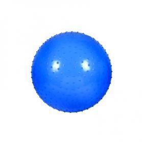 Мяч для фитнеса (фитбол) массажный HMS 55 см с системой антиразрыва голубой
