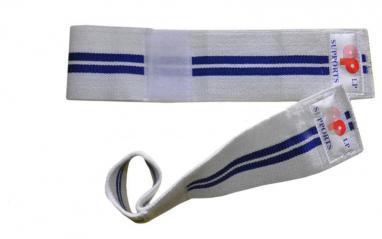 Напульсник эластичный для фиксации запястья (2шт) Matsa белый с синим