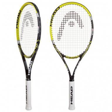 Ракетка теннисная Head Nano Ti.Lite серая с желтым