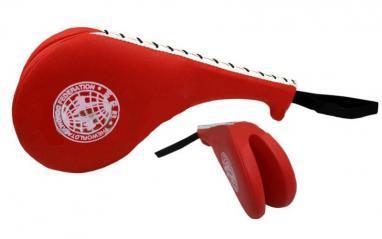 Ракетка (хлопушка) для тхэквондо двойная ZLT красная