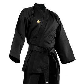 Фото 2 к товару Кимоно для тхэквондо Adidas Open Uniform черное (добок)
