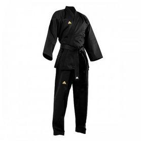 Фото 3 к товару Кимоно для тхэквондо Adidas Open Uniform черное (добок)